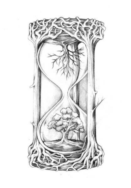 clock #tree_tattoo_ideas