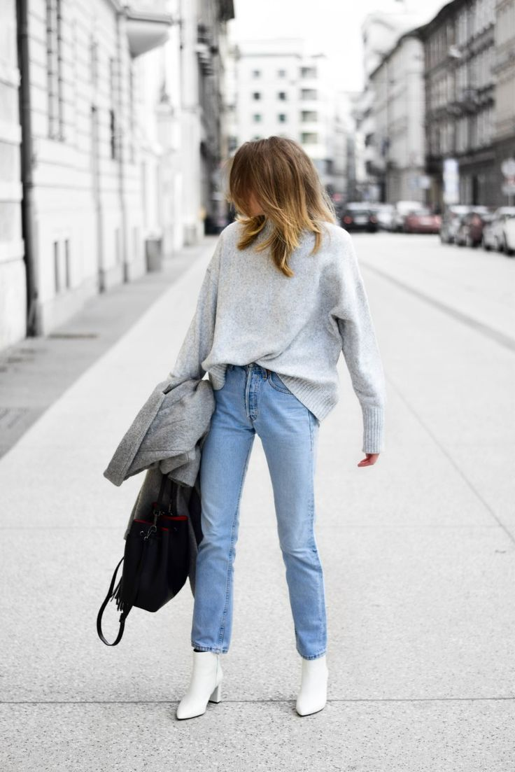 Beste Jeans How To Wear White Boots | Brunch Outfit, Fashion, Casual