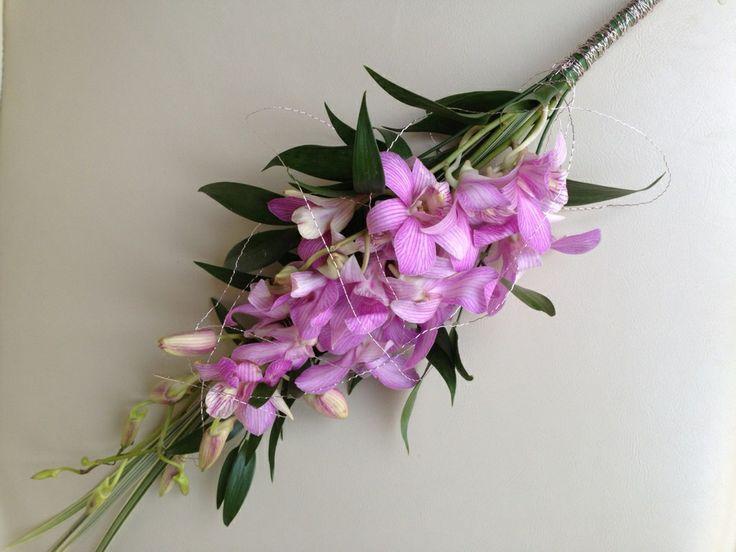 Bridesmaid's Singapore Orchids bouquet x