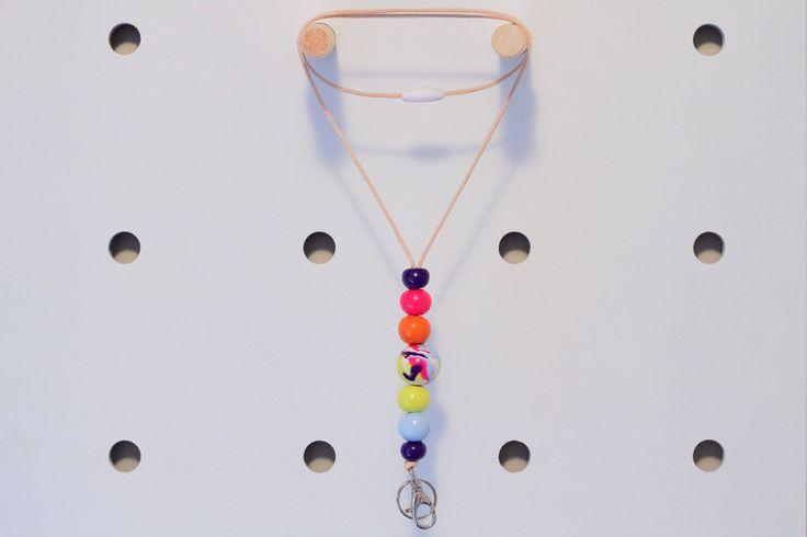 Rainbow Lanyard by thirteensixteen on Etsy