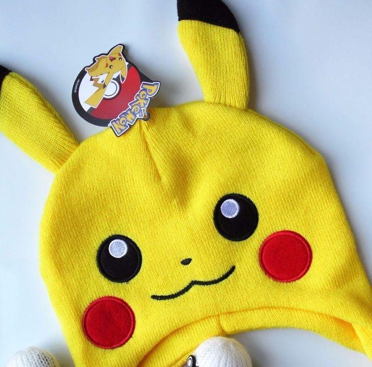 NEW Pokemon Pikachu Pokeball Laplander Knitted Beanie Hat One Size Fits Most #Pikachu #Beanie