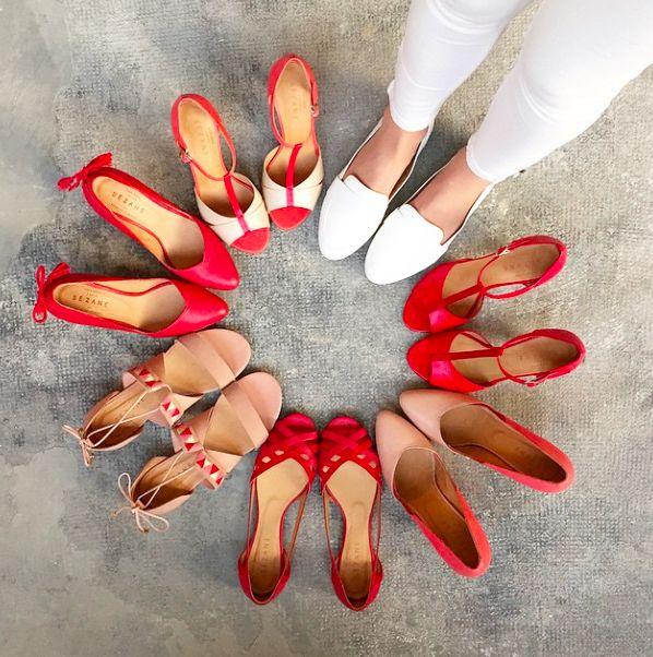 Sézane / Morgane Sézalory - Preview collection printemps - Rouge passion - www.sezane.com #sezane #spring #directionmarseille #passionred #redshoes