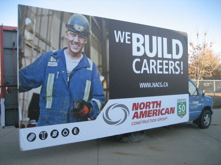North American Construction used one of ThinkTANK's Mobile AdVans to get their employment message out throughout the city.  #recruitmentads #recruitment #recruitmentstrategy