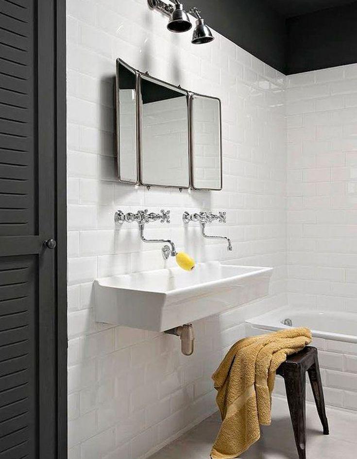 12 best salle de bains images on pinterest | bathroom, half ... - Lavabo Retro Salle De Bain