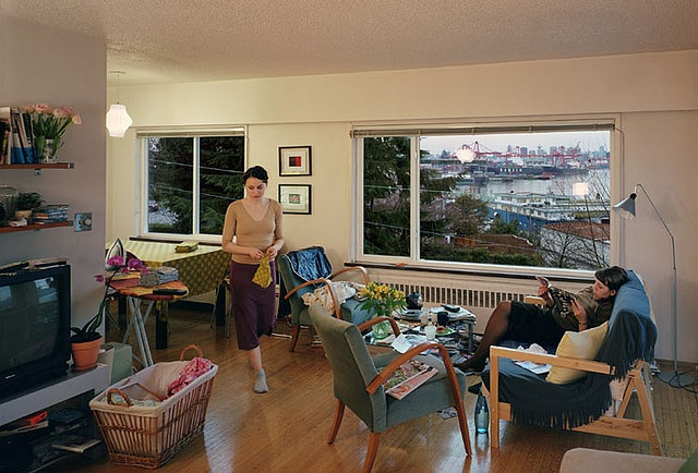 A view from an apartment  Jeff Wall Transparency in lightbox 167 x 244 cm 2004-2005 Marian Goodman Gallery, New York