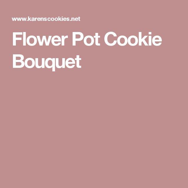 Flower Pot Cookie Bouquet