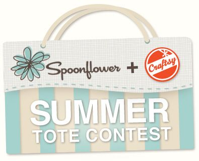 Create a summer tote bag with Spoonflower fabric and enter a contest to win a Craftsy class and Spoonflower custom fabric credit blog.craftsy.com/2012/06/summer-tote-contest/#Custom Fabrics, Spoonflower Fabrics, Craftsy Class, Totes Bags, Summer Totes, Spoonflower Custom, Fabrics Credit, Tote Bags, The Roller Coasters