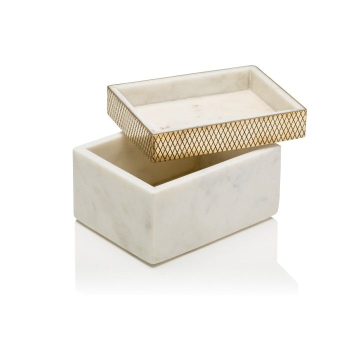 Coco Republic's Fox Box, with a smokey marble body and diamond brass edging, makes the perfect luxe accoutrement to a stylish vignette. Available exclusively at Coco Republic. #CocoRepublic #Decor #Vignettes #Marble #Brass #InteriorStyling #Gifts