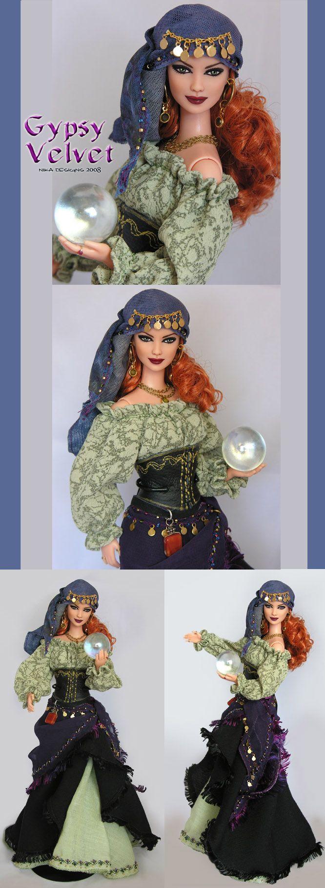 gypsy velvet barbie repaint
