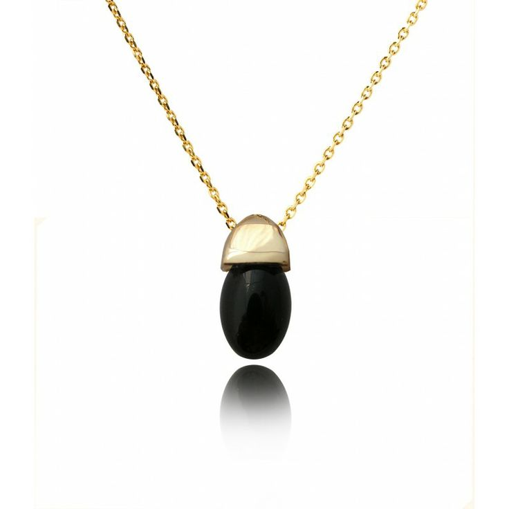 Acorn Pendant with Onyx with a Gold Vermeil Finish by Fei Liu ACORN PENDANT - ONYX AND GOLD VERMEIL - FEI LIU Regular Price: £128.00 Special Price: £89.00 #Easter #offer # jewellery #earrings #amethyst #Cambridge