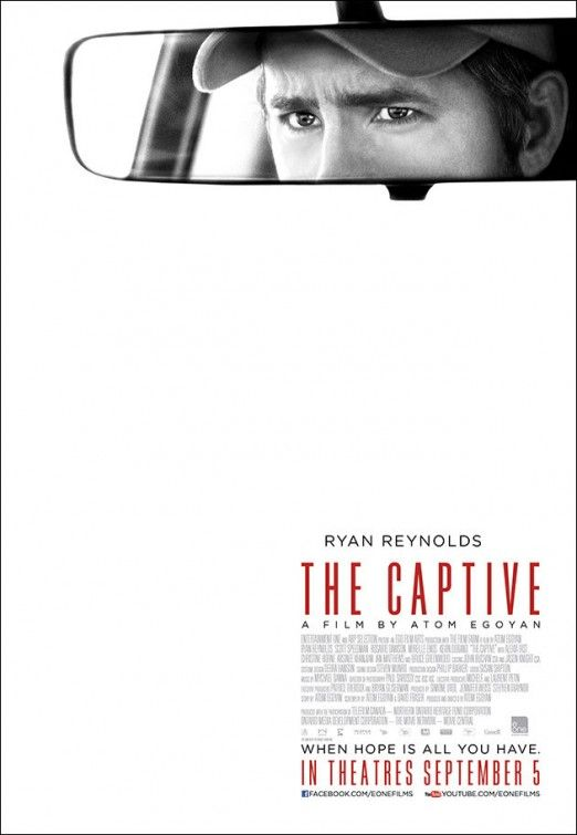 always keep a movie poster simple: The Captive #sudbury Canadian made movie in my hometown of Sudbury was one location, my 2 brothers had (small) extra parts prision guard and a cop :-)