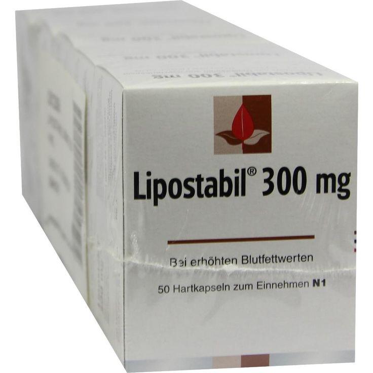 LIPOSTABIL 300 mg Hartkapseln:   Packungsinhalt: 250 St Hartkapseln PZN: 01049557 Hersteller: MCM KLOSTERFRAU Vertriebsgesellschaft GmbH…