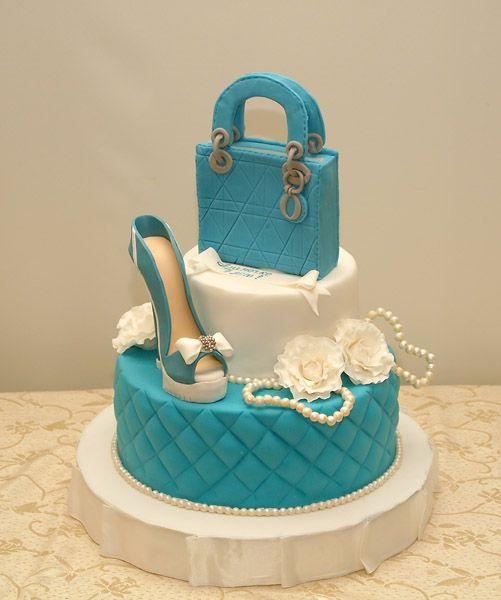 праздничный эксклюзивный торт для девушки на день рождения 8659