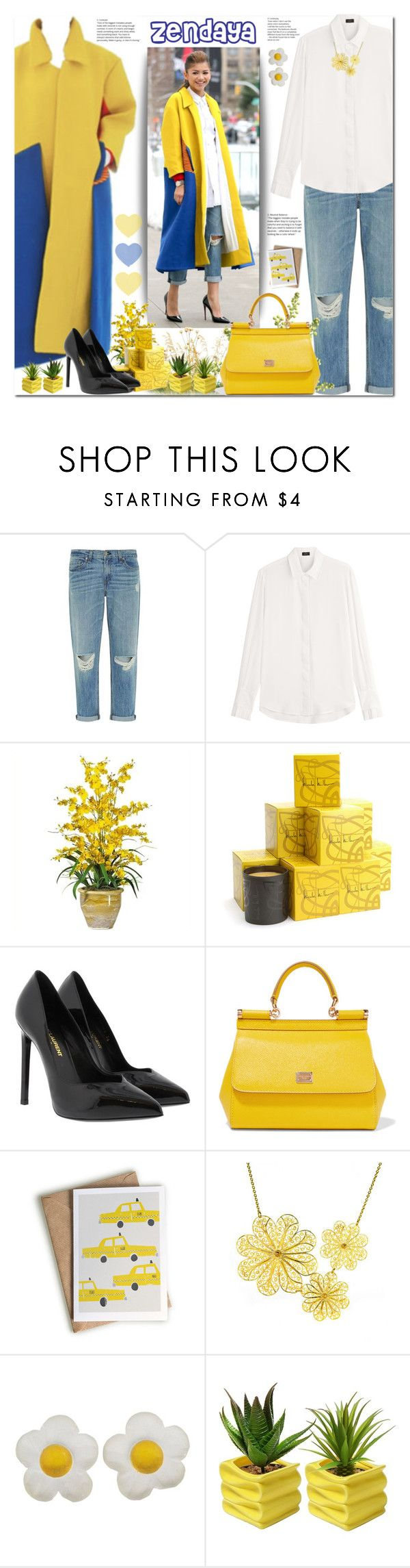 """""""Zendaya's Style"""" by firstclass1 ❤ liked on Polyvore featuring rag & bone, Joseph, Nearly Natural, Nicole Miller, Yves Saint Laurent, Dolce&Gabbana, TAXI and Arabel Lebrusan"""