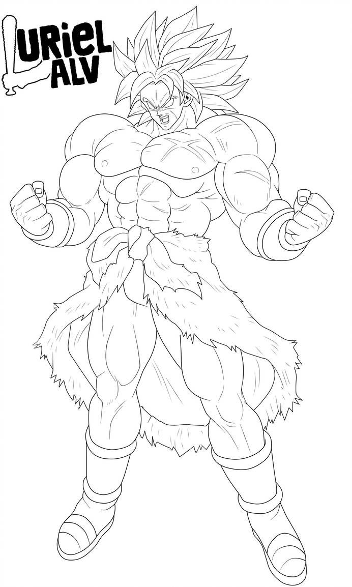 Broly Lineart By Urielalv Dragon Ball Super Artwork Dragon Ball Super Art Dragon Ball Art