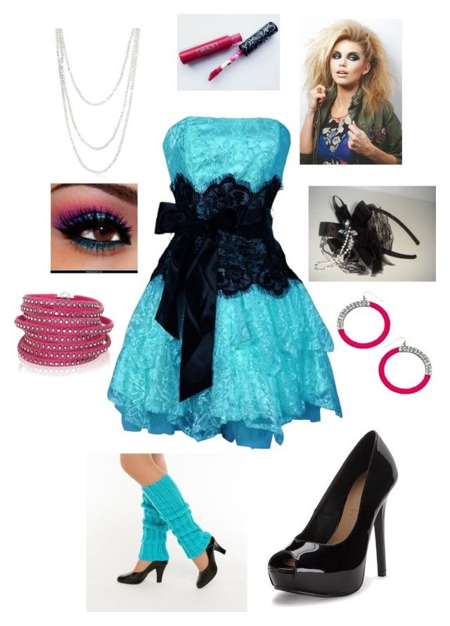 """80s Prom"" by foreverblonde2001 ❤ liked on Polyvore featuring Bling Jewelry, Kat Von D, Blu Bijoux and Sif Jakobs Jewellery"