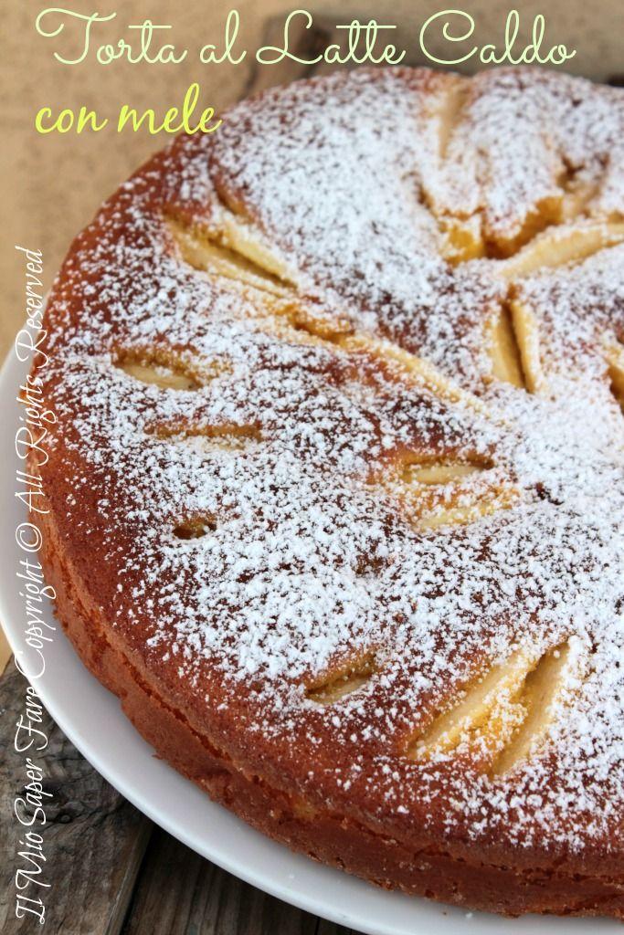 Torta soffice al latte caldo con mele: delicata e genuina. A creare questa magia è il latte caldo aggiunto al composto. Con le mele è ancor più confortante