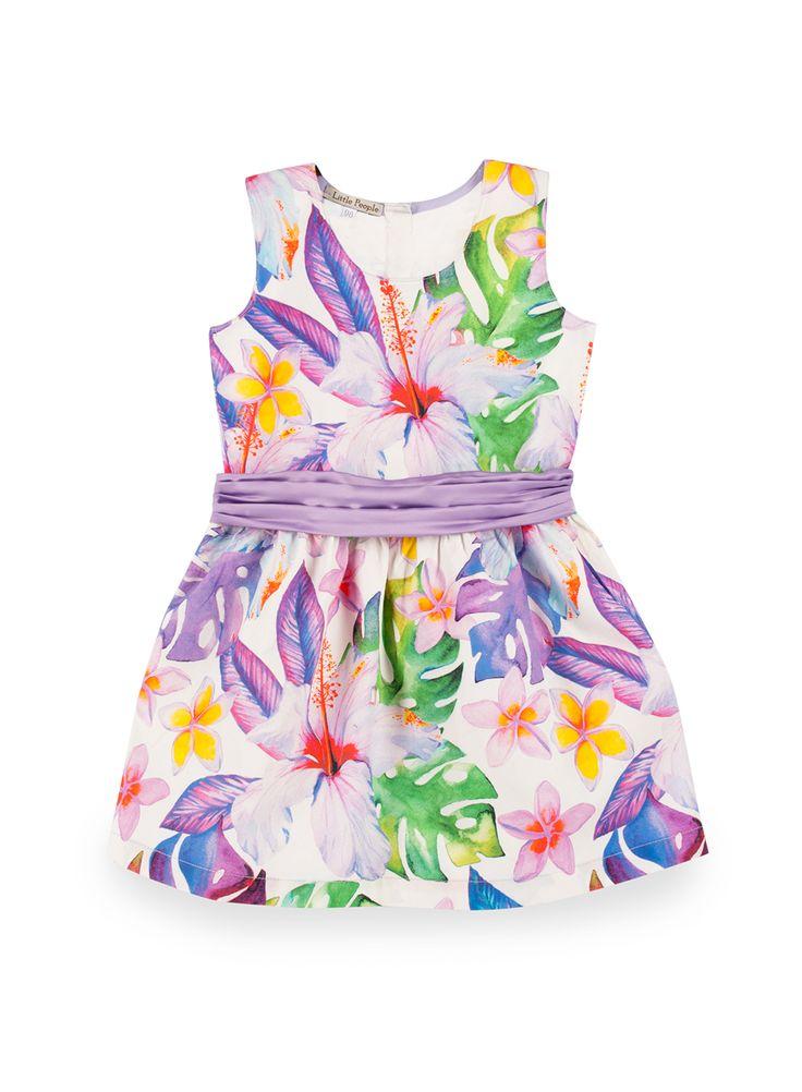 """BINKI Платье """"Розы и Плюмерии"""" с Бантом на Спинке #binkiru #детскаяодежда #магазиндетскойодежды"""