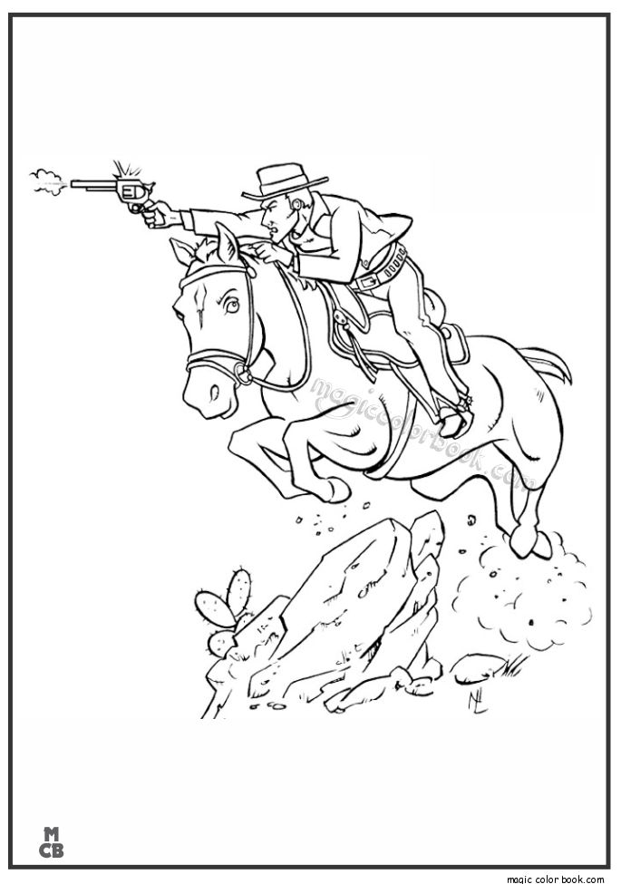 28 best Cowboy Coloring pages images on Pinterest | Cowboys, Büffel ...
