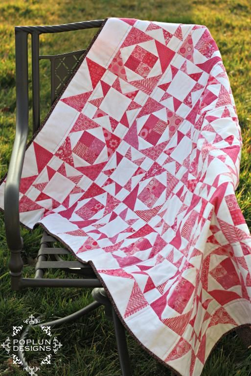 pink and white patchwork quilt xxx