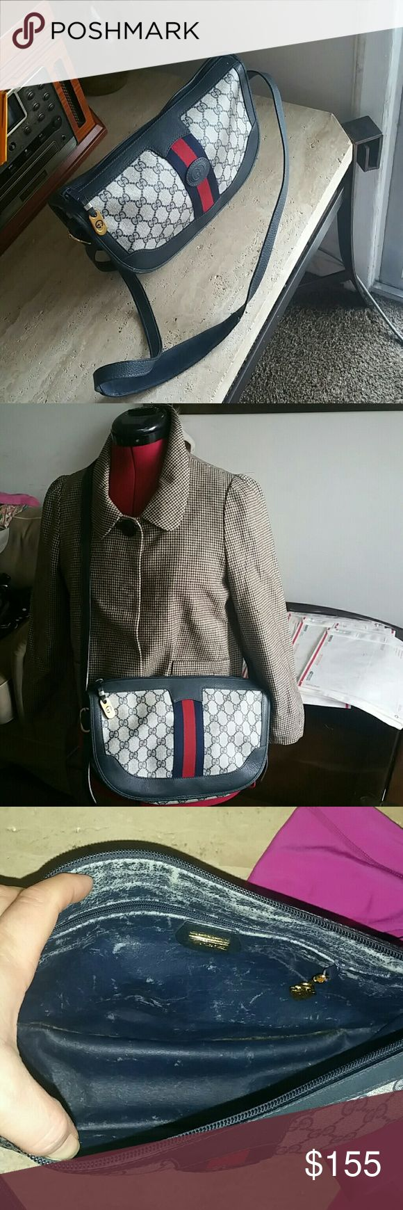 Gucci purse Genuine beautiful bag in very good vintage condition on the outside, very little wear on the  corners. Inside looks more worn as seen in the picture Gucci Bags