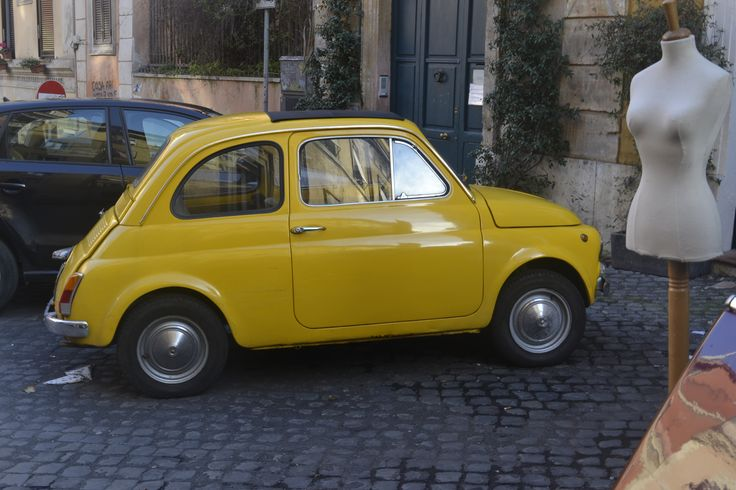 Old #Fiat500 in the streets of the neighborhood #Monti, Rome.
