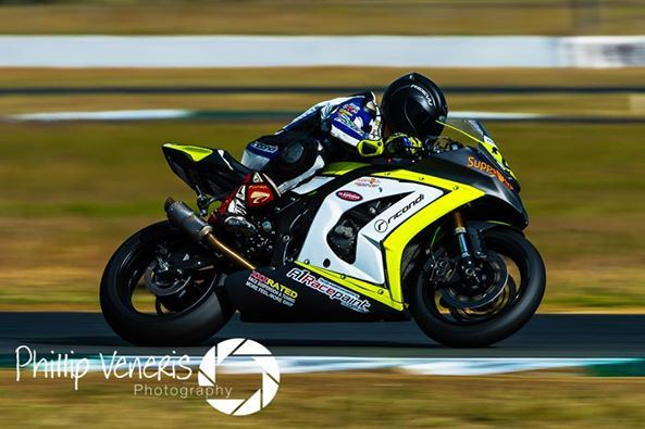 Mitchell Paynter at round 3 of the Superbike Championships at QLD Raceway, 2014. Photo by Phillip Veneris Photography #Reevu