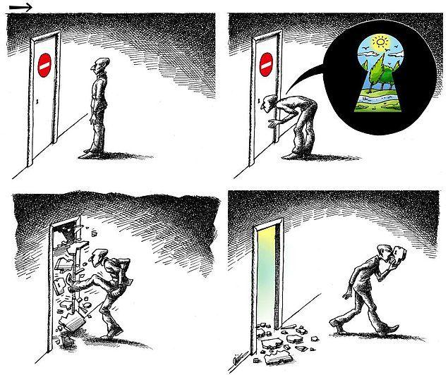 100 Cartoon Anti-Systemist Cartoonist Mana Neyestani in Exile