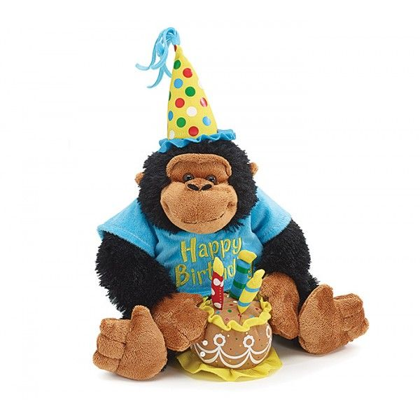 Happy Birthday Musical Monkey: Showcase your special greetings of #birthday and send birthday stuffed animals from our online gift shop. #sendstuffedanimal