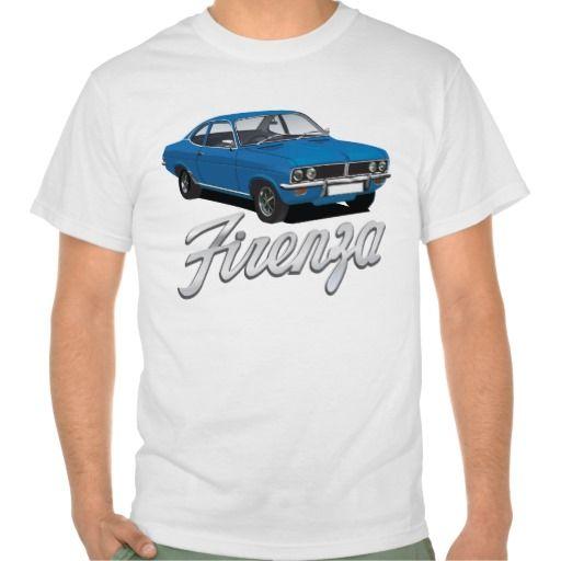 Vauxhall Firenza with text blue  #vauxhall #firenza #vauxhallfirenza #automobile #tshirt #tshirts #70s #classic