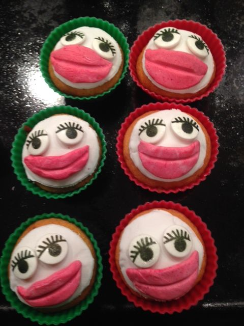 Susan had some very cheerful cupcakes!