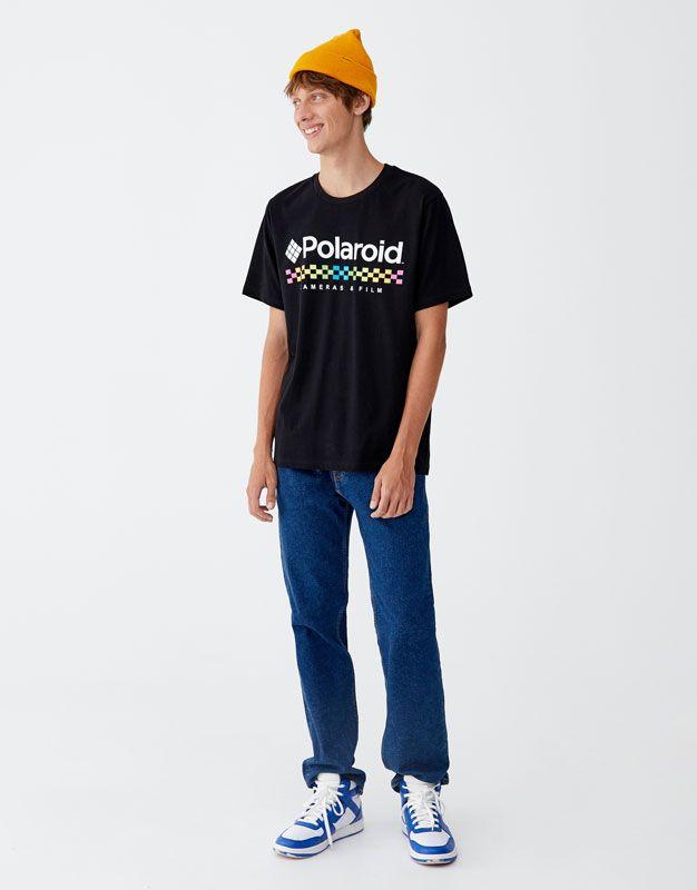 fb1c8bd2f PullAndBear - t-shirt mit polaroid-logo - schwarz - 09232910-I2018 ...