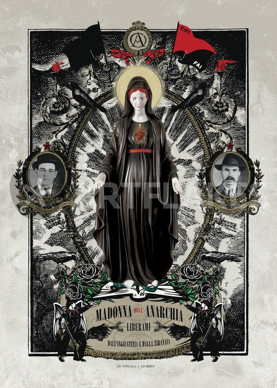 """Madonna dell'Anarchia"" Digital Art art prints and posters by ex-voto…"