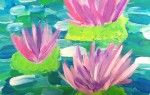 This is a lesson plan for a tempera painting inspired by Monet's water lilies. I like to do this lesson with my 3rd grade.