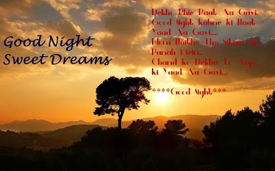 Every India: Cute Romantic Good Night Love Sms Shayari