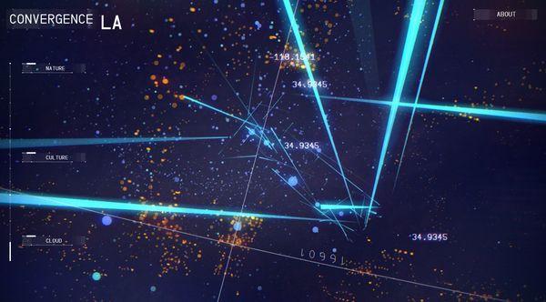 ロサンゼルス(LA)を舞台にしたデータ可視化のアートワーク Convergence LA が超 COOL! - WebGL 総本山