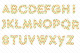 Chevron Alphabet - Creative Fabrica