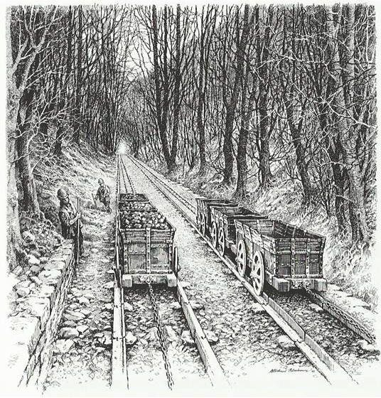 Ancient rail roads that influenced in industrial Wales