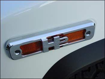 Check out the deal on RestoBillet 3D H2 Marker Light Bezels (set of 4) at Hummer Parts Club