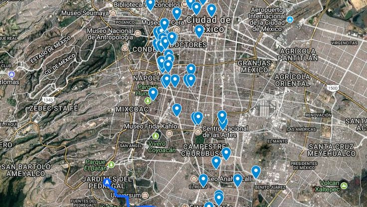 Mapa: Edificios dañados y colapsados en la CDMX