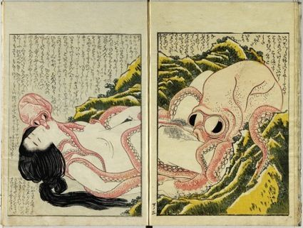 Shunga: sex and pleasure in Japanese art - we make money not art  Diving woman and octopi