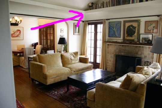 Look Molding Doubles As Shelves In The Eaves Ceiling