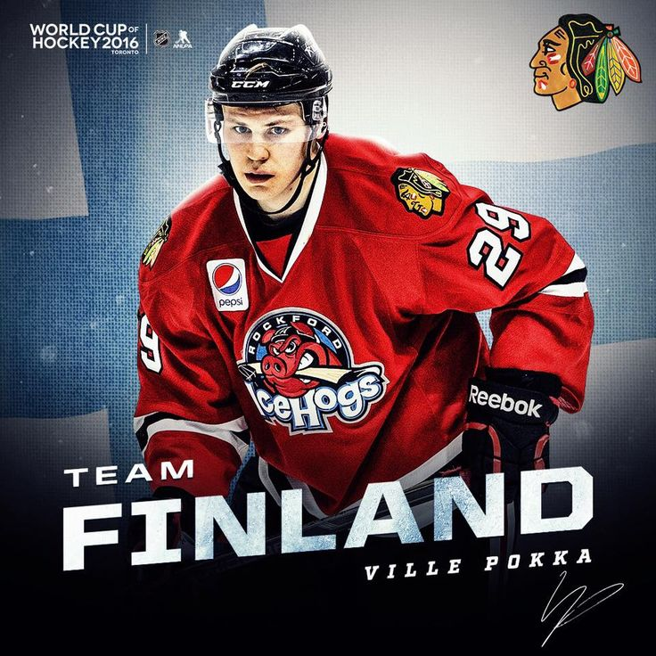 Ville Pokka will play for Team Finland! #Blackhawks