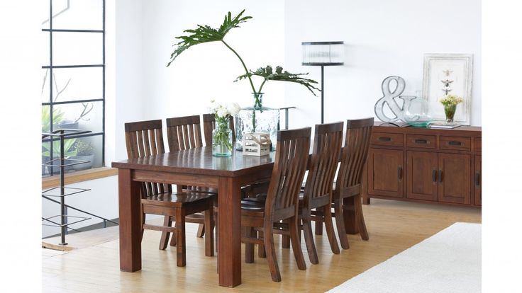 Provincial ii 7 piece dining suite dining furniture for Dining room tables harvey norman