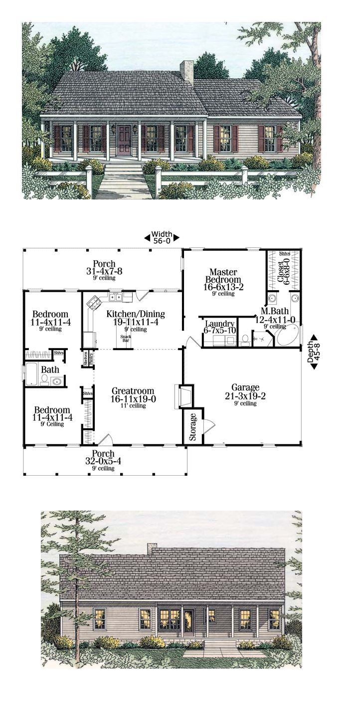 Country Ranch House Plan 40026 180 best