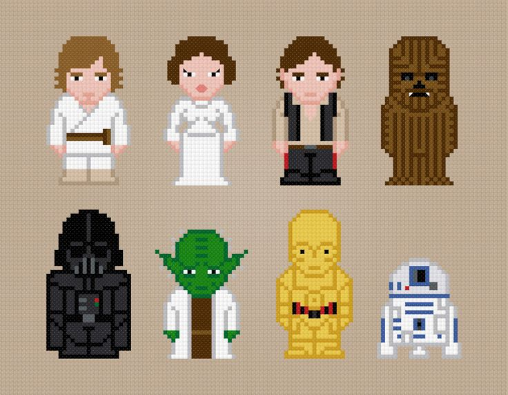 Personajes de Star Wars Movie de punto de cruz por AmazingCrossStitch