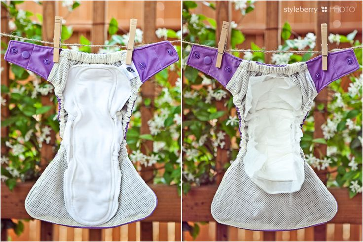 Cloth Diaper Hybrid Comparsion - GroVia & Flips (hybrid=cloth diaper which uses a reusable cloth insert and a disposable, biodegradable insert)