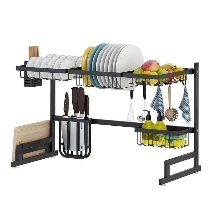 Only 9 9 Stainless Steel Paint Kitchen Drain Cottonsswab In 2020 Dish Rack Drying Kitchen Rack Steel Kitchen