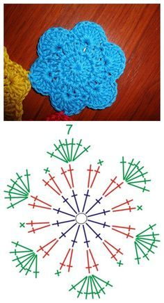 Pola bunga rajut sederhana