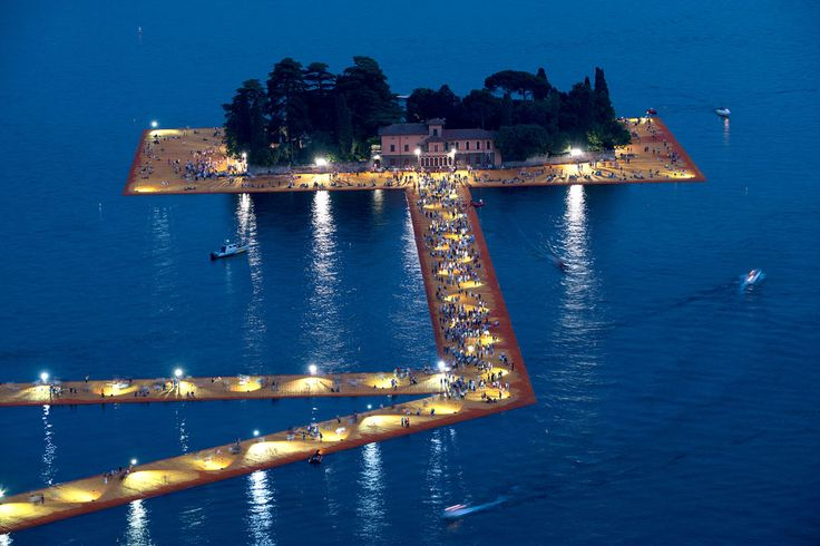 Christo's Floating Piers at Lake Iseo, Italy   Yellowtrace